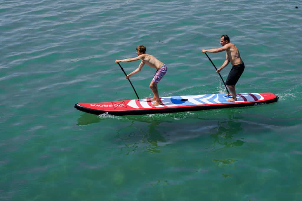 inflatable paddle tandem