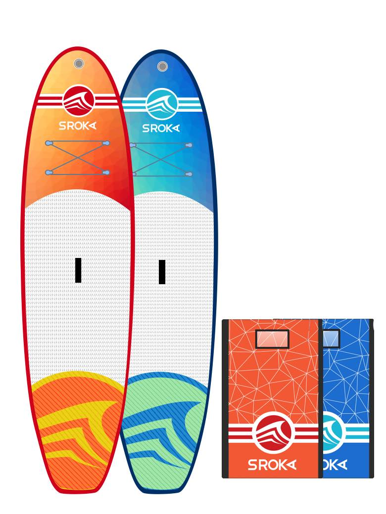 Malibu 10 blue: orange paddle inflatable sroka