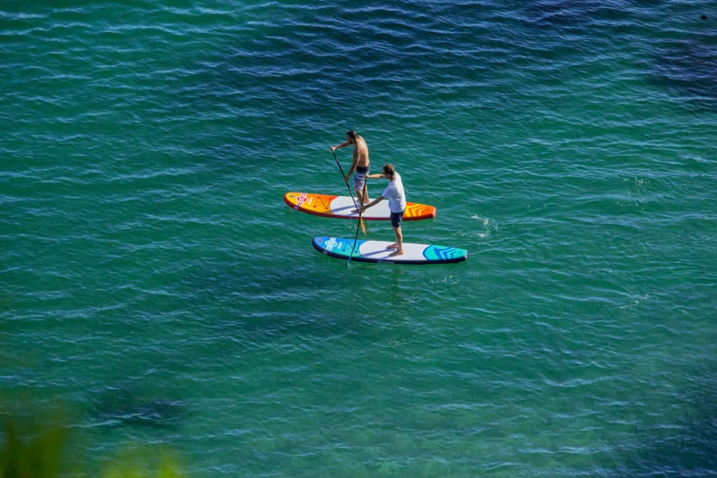 Stand up paddle gonflable Malibu bleu et orange