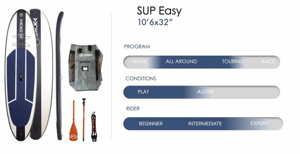 Specs inflatable paddle Easy 10'6