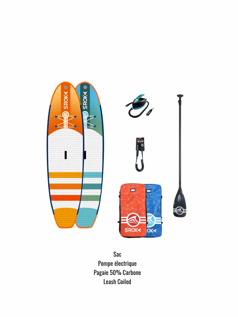 Planche de stand up paddle gonflable en package complet
