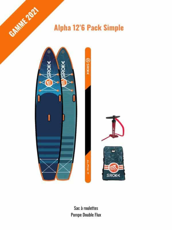 Stand up paddle pack alpha 12'6