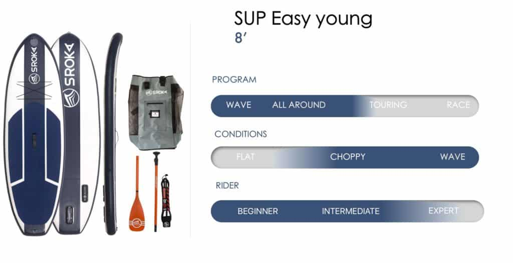 Specs Easy 8' Inflatable stand up paddle