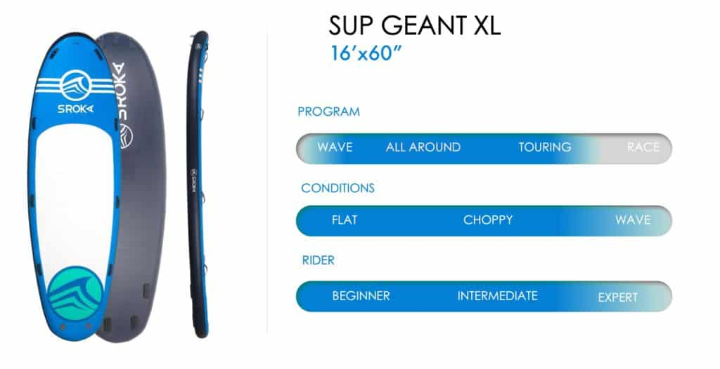 Spec inflatable paddle geant XL