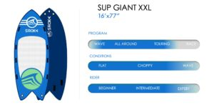 spec of inflatable stand up paddle XXL Giant