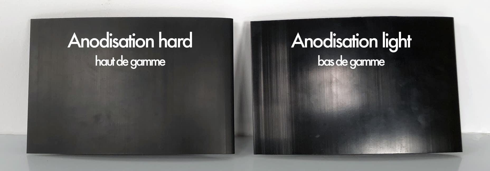 Difference between hard and light anodisation