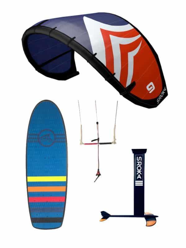 pack Kitefoil aluminium et board pocket avec aile ouesk et kitebar