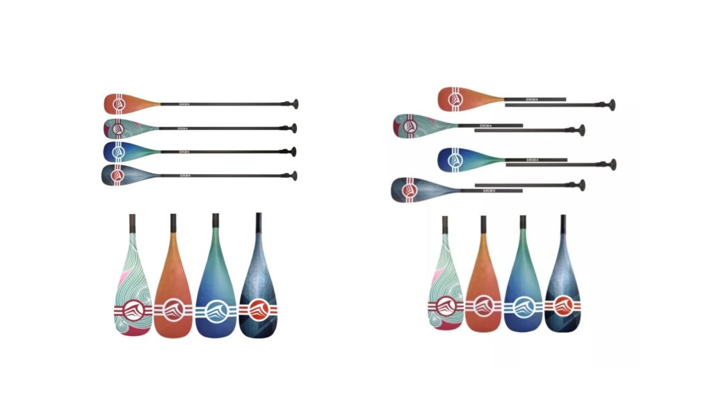 2 part and 3 part paddle