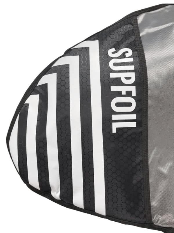 Surf foil and SUP foil protection bag for assembled foil tips renforcement