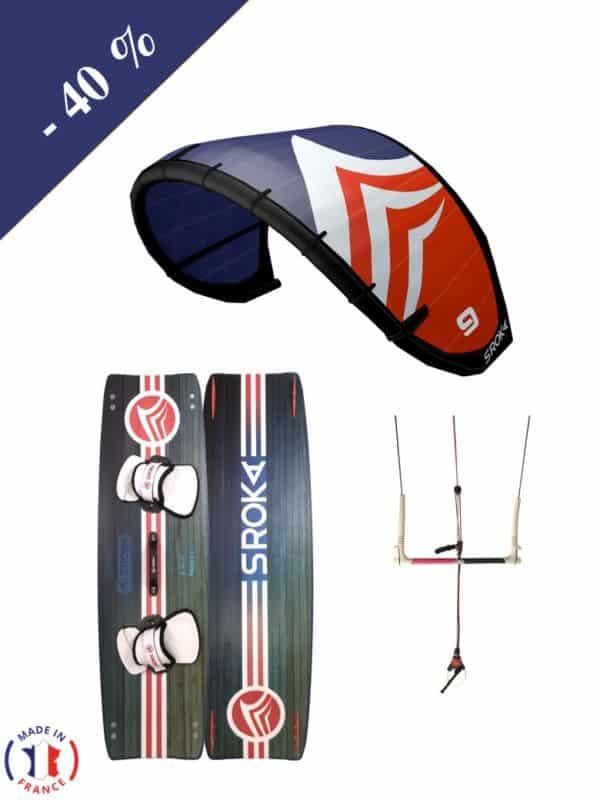Pack kitesurf SROKA-Aile Ouesk - barre et Twin tip