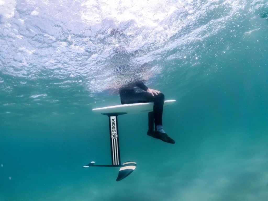 bruno sroka en surf foil - sup foil - wakefoil - wingfoil - aluminium 2019