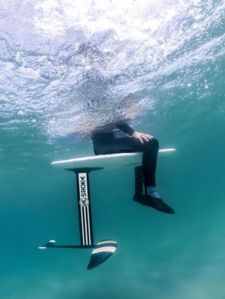bruno sroka en surf foil aluminium 2019