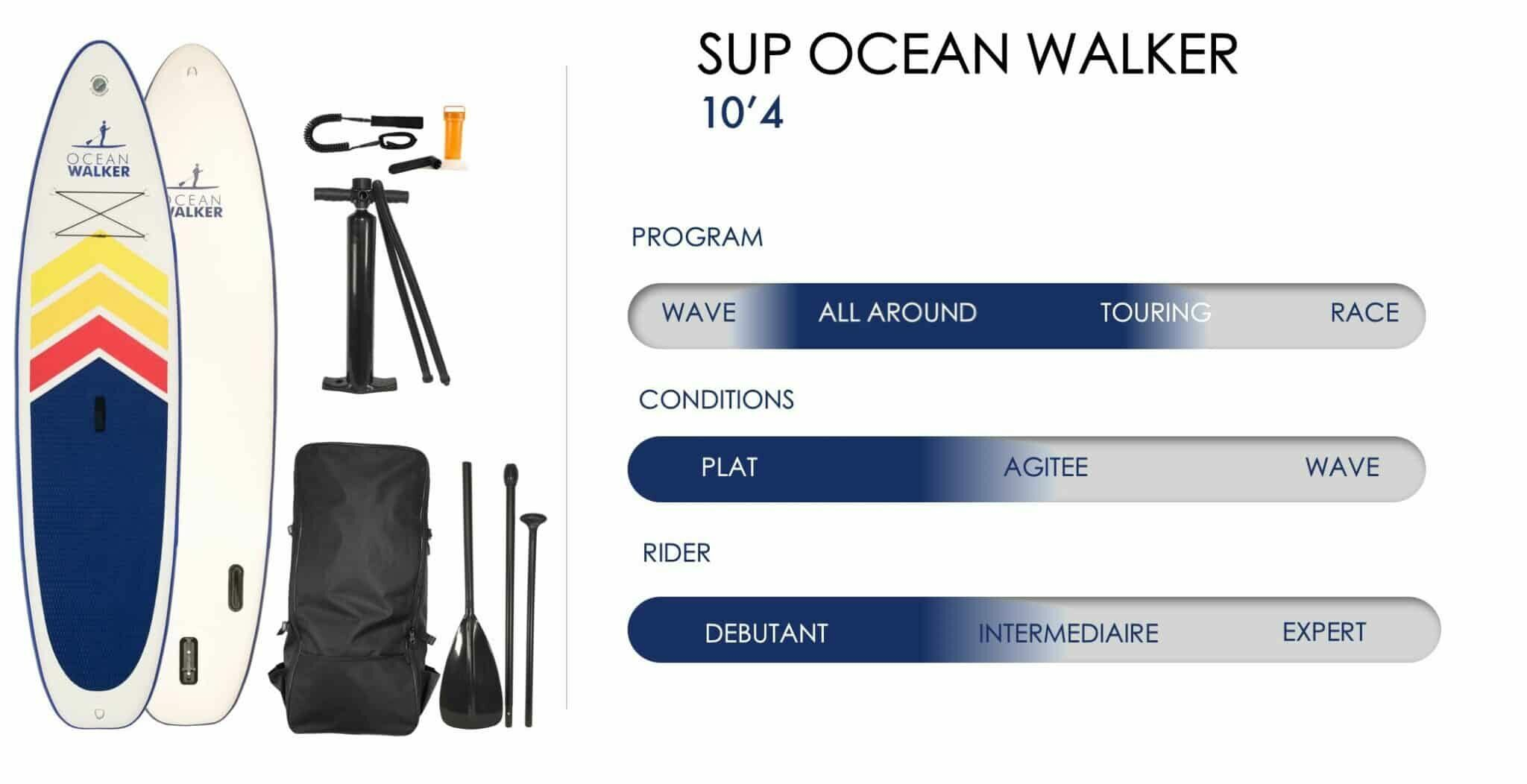 CHARACTERISTICS OF THE OCEAN WALKER PADDLE