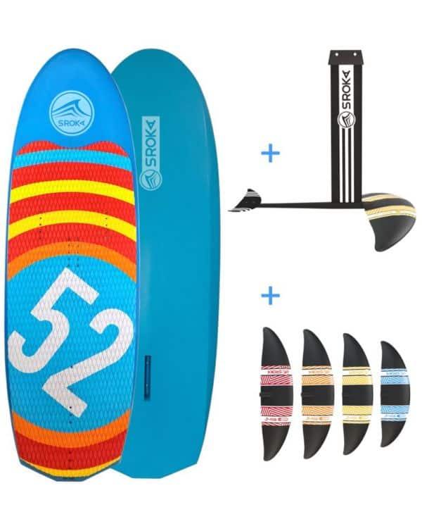 Paket S-Foil alu + flossen + board 160x52