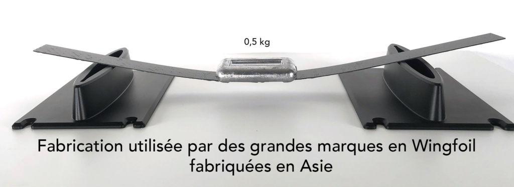 Fabrication Wingfoil monolytique avec renfort carbone ou bambou