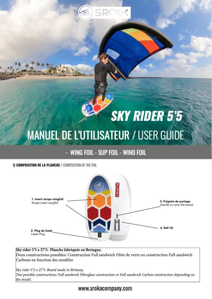 User guide 5'5 sky rider site