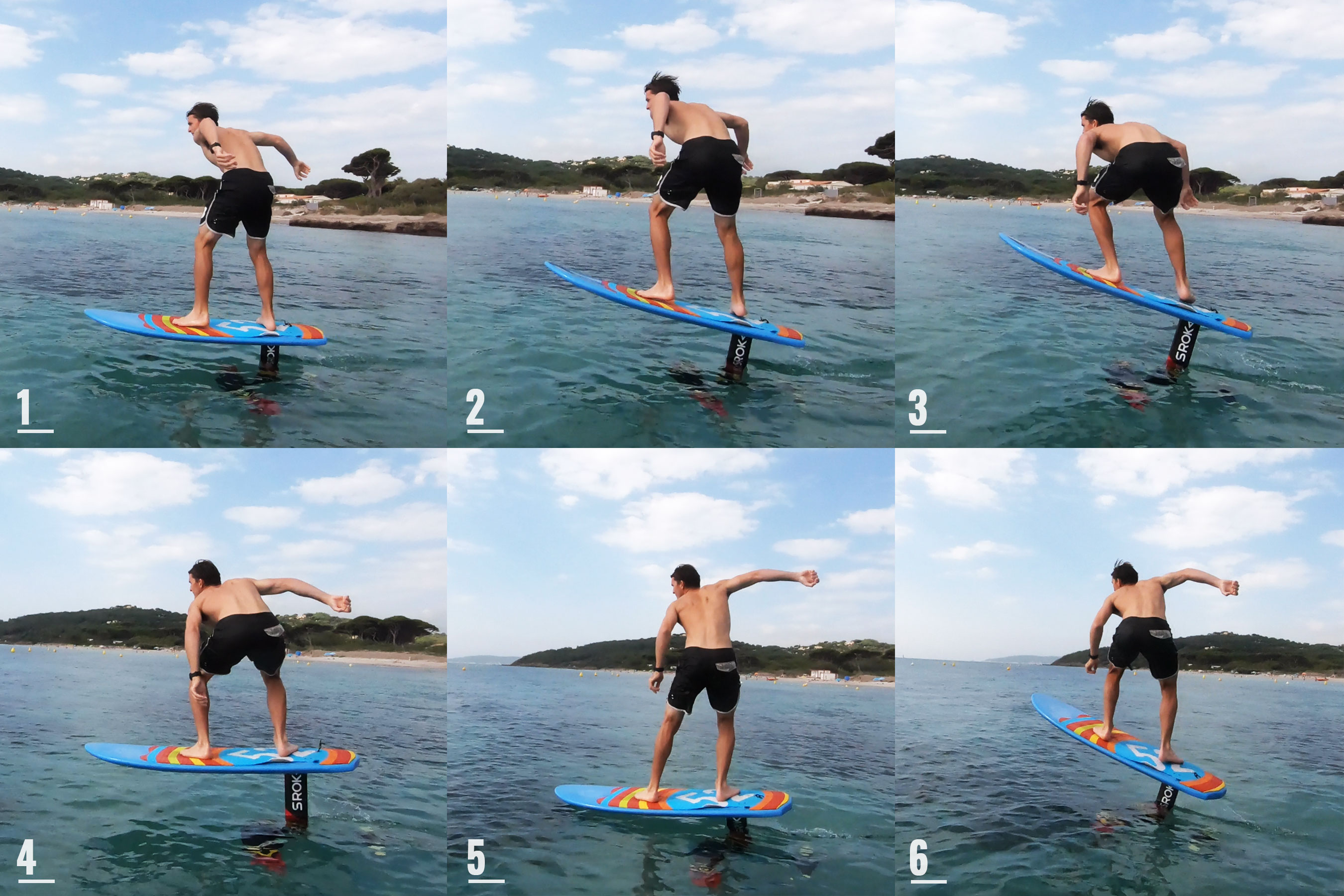 Surf foil pumping explained step by steps.
