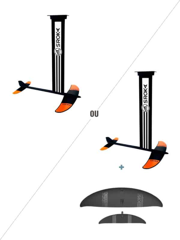 kitefoil aluminium et carbone pour débutant. Idéal pour surfer, carver, le freeride et le surf.