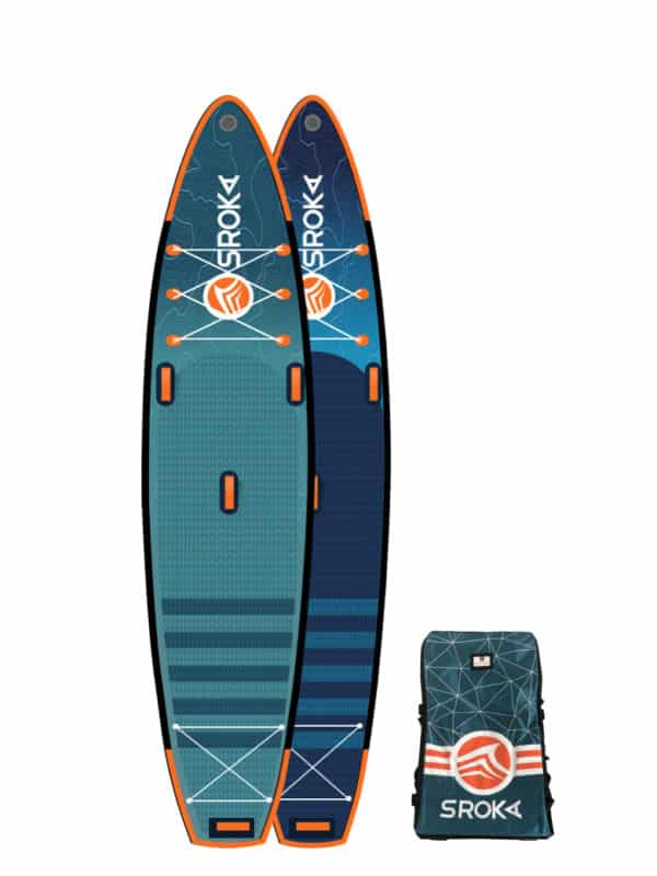 Planche de SUP gonflable Alpha pour stand up paddle race et performance