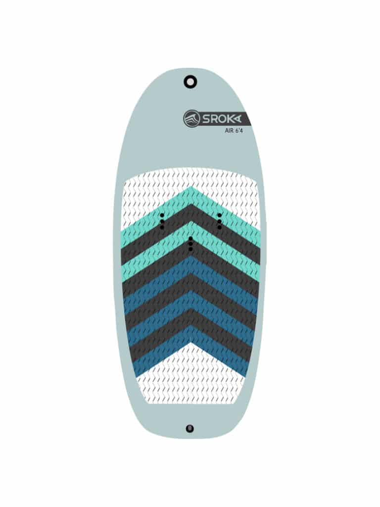 Air 6'4 inflatable board by Sroka Company for foil