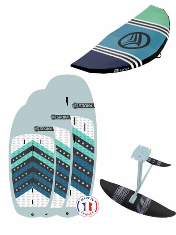 Pack wing foil complet avec foil, planche made in France, Wing et accessoires